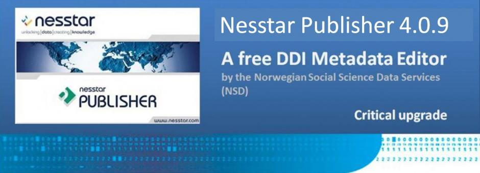 Nesstar Publisher 4.0.10 now available