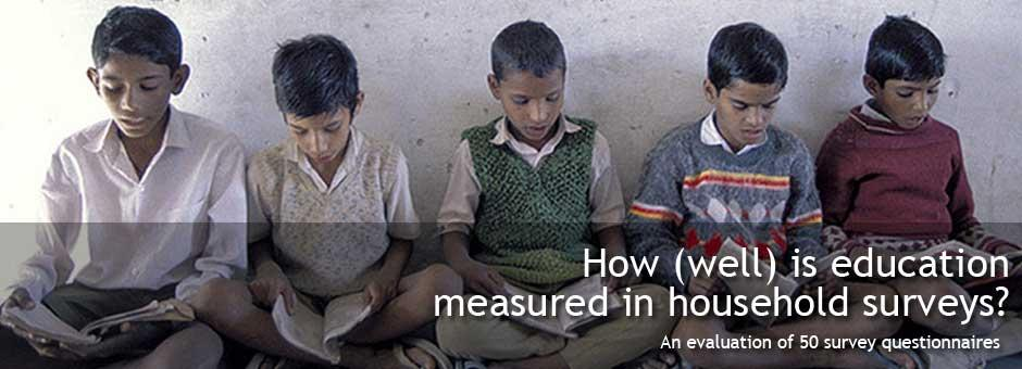 How (well) is education measured in household surveys?